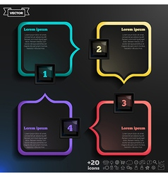 Infographic design with colorful squares vector