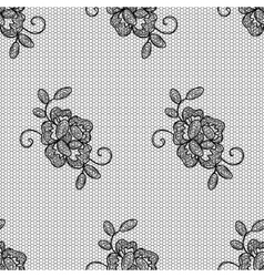 Lacy flower seamless pattern vector image vector image