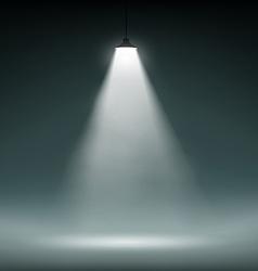 Lantern illuminates the dark space vector