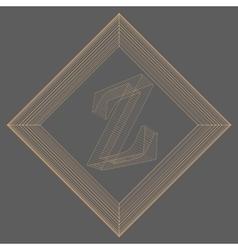 letter Z Fonts of Mesh vector image