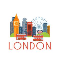 London classic toristic scenery vector