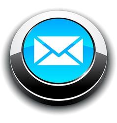 Mail 3d round button vector