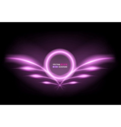 neon frame with wings vector image