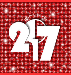 new year 2017 concept on red shining rounds vector image vector image