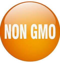 Non gmo orange round gel isolated push button vector
