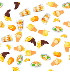 orange ice cream vector image