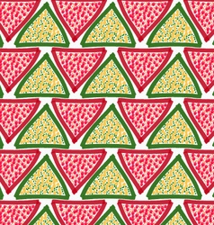 Painted red and green triangles with dots vector image vector image