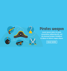 pirates weapon banner horizontal concept vector image