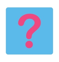 Question flat pink and blue colors rounded button vector
