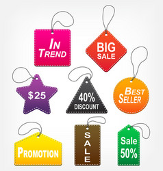 Set of sale tags multicolor vector
