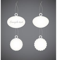 Simple decorative badges vector