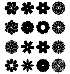 Simple flowers vector