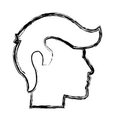 Sketch human profile man male icon vector