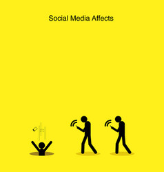Social media affects vector
