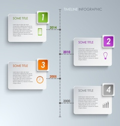 Timeline info graphic rectangle template vector image