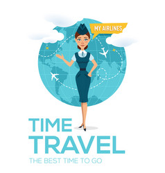 Travel around the world brochure vector