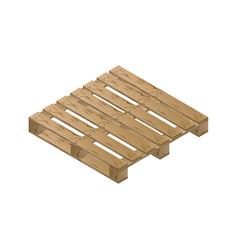 Wooden pallet isometric vector