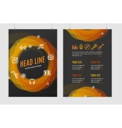 Abstract geometric round placard brochure flyer vector
