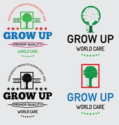 World care tree logo vector