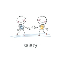Salary vector image