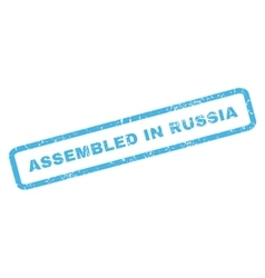 Assembled in russia rubber stamp vector