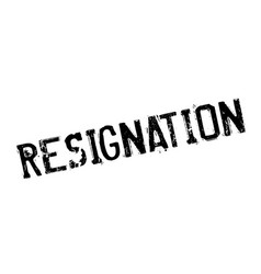 Resignation rubber stamp vector