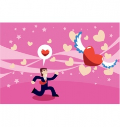 chasing love vector image