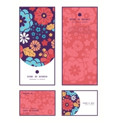 Colorful bouquet flowers vertical frame vector