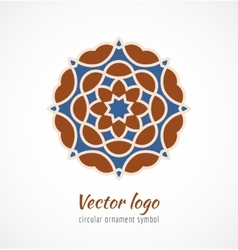 Abstract red and blue asian ornament symbol logo vector