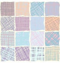 Canvas texture in patchwork style vector