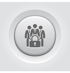 Business security icon vector