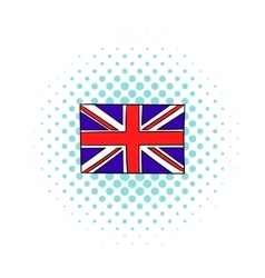 Great britain flag icon comics style vector