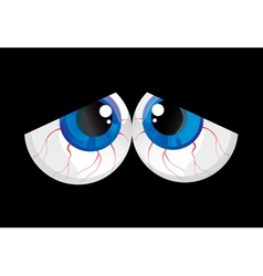Sad bulging eyes vector