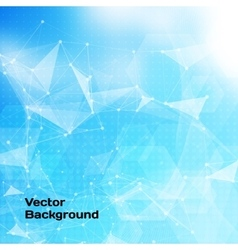 Abstract low poly blue bright technology vector image vector image
