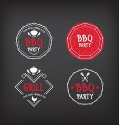 Barbecue party icon BBQ menu design vector image vector image
