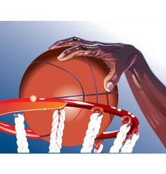 basketball illustration vector image