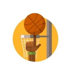 Basketball round sticker vector