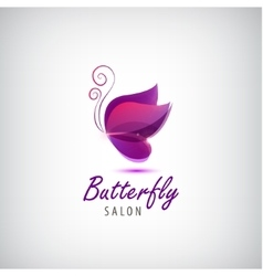 butterfly logo Spa salon vector image