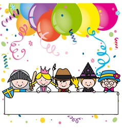 Costume party card vector