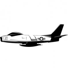 f86 sabre vector image