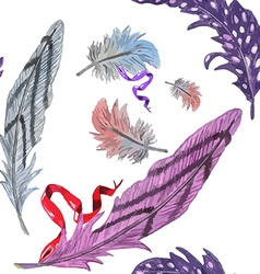 Feather pattern3 vector image vector image