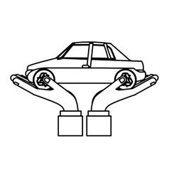 Green transport vehicle vector