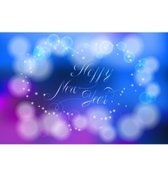 Happy new year card with flares and sparkles vector