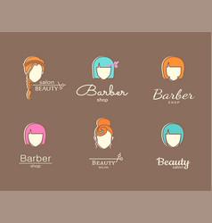 Logo template - barbershop vector
