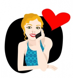 love call vector image vector image