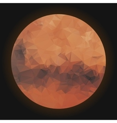 Low poly planet Mars vector image vector image