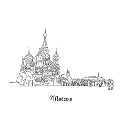 Moscow Red Square sketch for your design vector image