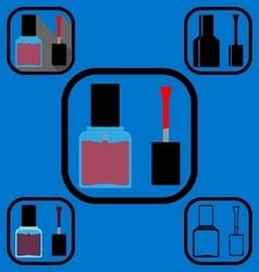 Nail polish icons set vector image