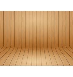Old curved wooden background grunge old interior vector