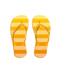 pair flip flops isolated on white background vector image